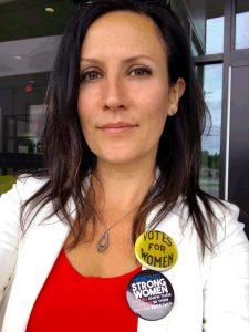 Lillie Lavado portrait at Presque Isle polls
