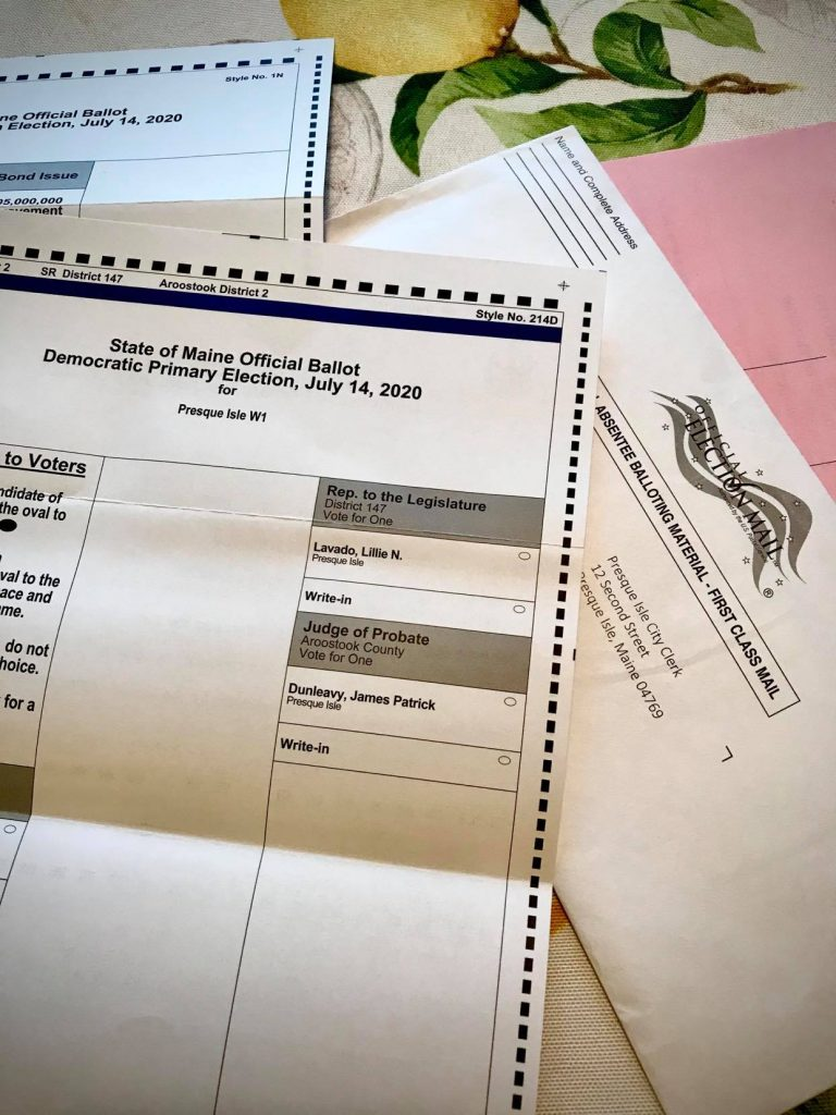 Lillie Lavado on vote by mail primary ballot 2020