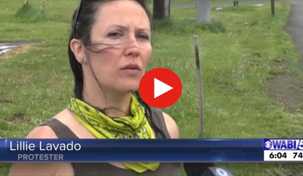 WABI George Floyd Protest Internview Lillie Lavado play