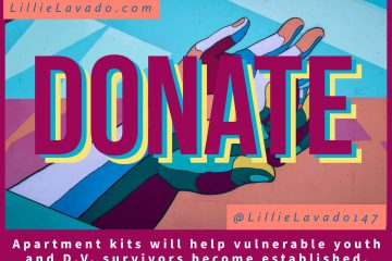 "Apartment Kits Header featuring word ""donate"""